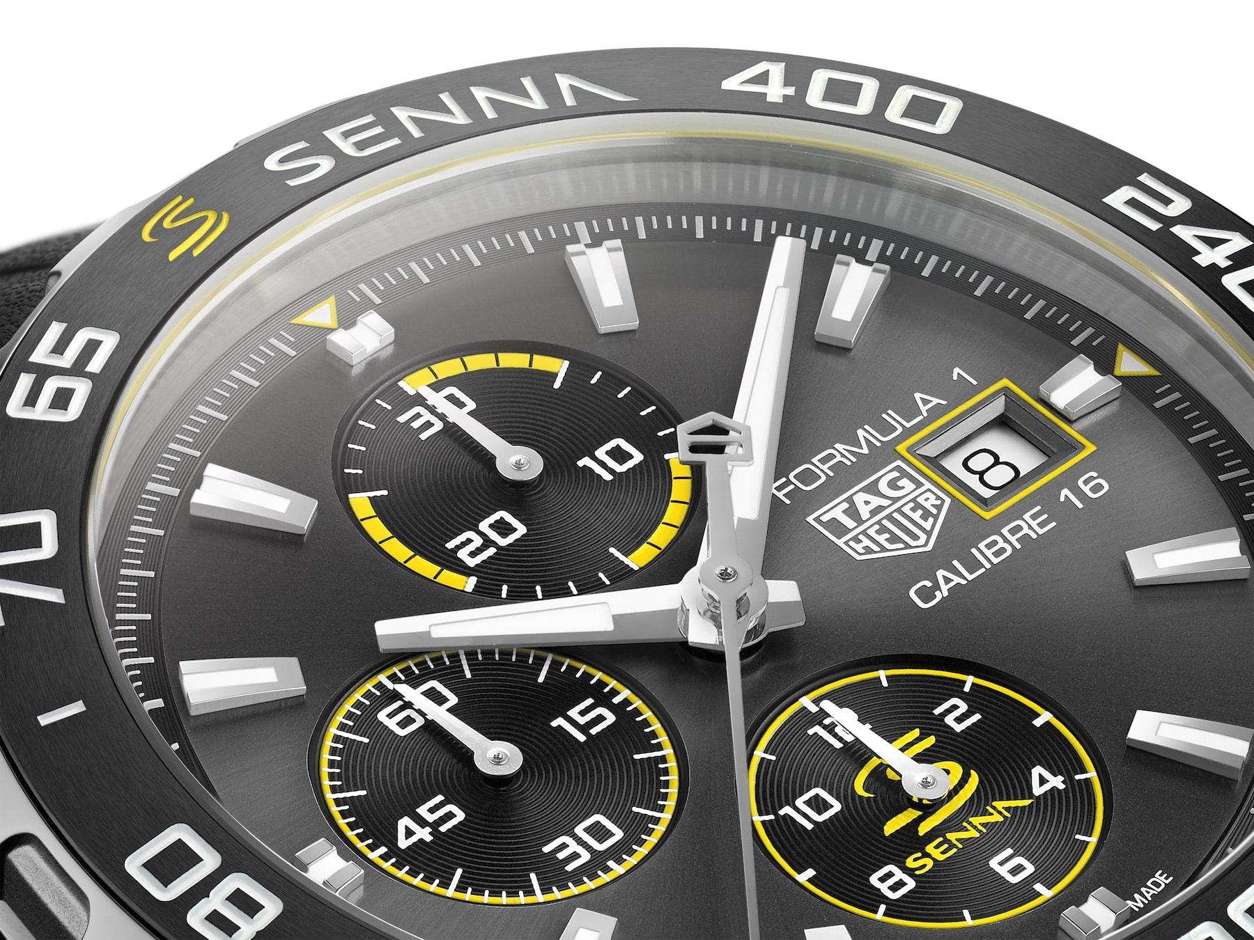 TAG Heuer Formula 1 Senna Special Edition 2020 automatic chronograph 4 min
