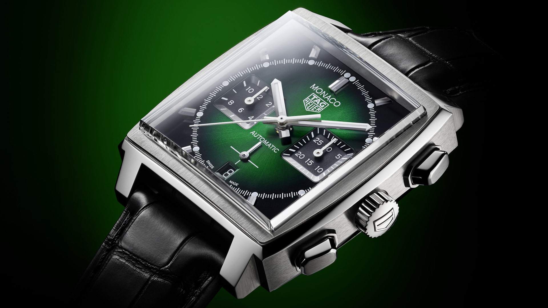 TAG Heuer Monaco Green Dial 1