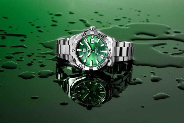 TH RK BB5A7354 RET TAG Heuer Aquaracer Green Dial