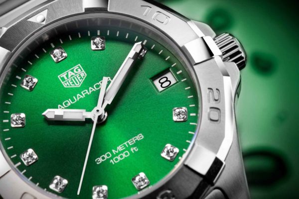 TH RK BB5A7874 RET TAG Heuer Aquaracer Green Dial