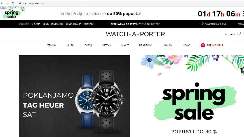 Web shop Watch a Porter