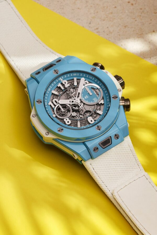 big bang sky blue 45 mm yellow ls portrait