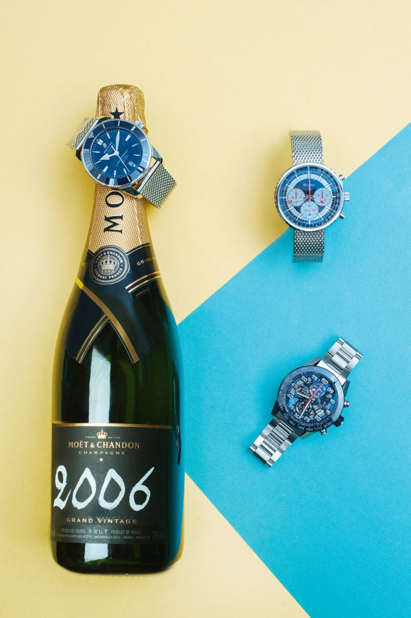 BREITLING Superocean Chronograph Special Edition Héritage II BULOVA Special Edition Chronograph TAG HEUER Carrera 01 Chronograph Automatic MOËT & CHANDON 2006 Grand Vintage