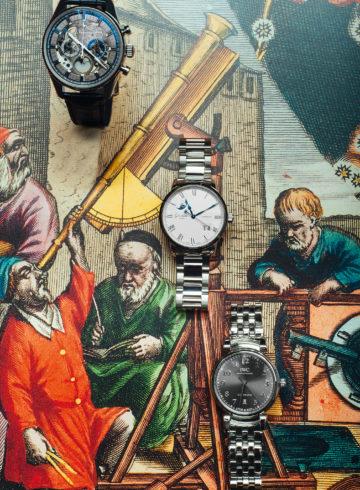 ZENITH Chronomaster El Primero Grand Date Full Open GLASHÜTTE ORIGINAL Panorama Date Moon Phase IWC SCHAFFHAUSEN Da Vinci Automatic