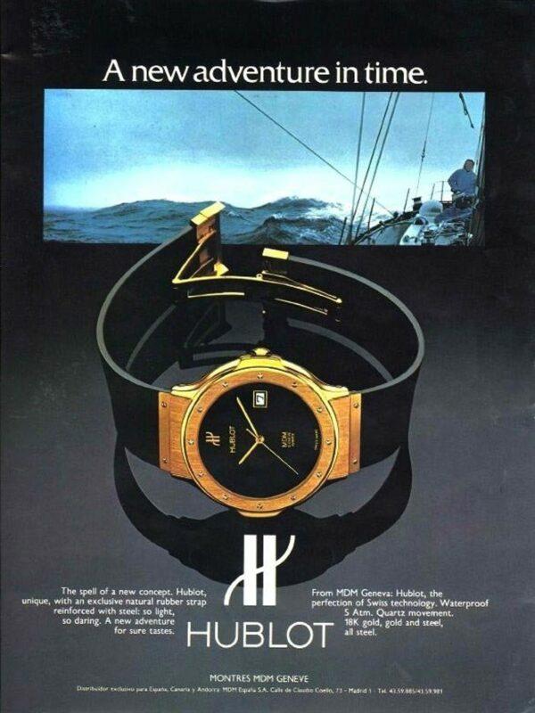 hublot oglas 1980