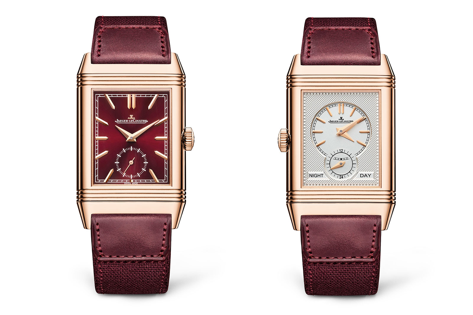 jaeger lecoultre Reverso Tribute Duoface Fagliano red dial 1