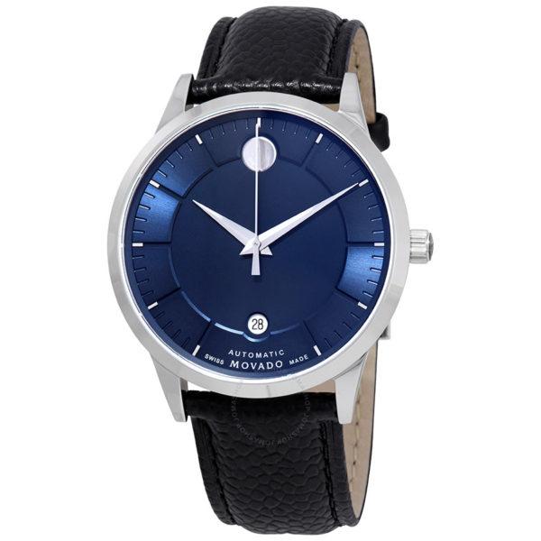 movado 1881 automatic blue dial men s watch 0607020