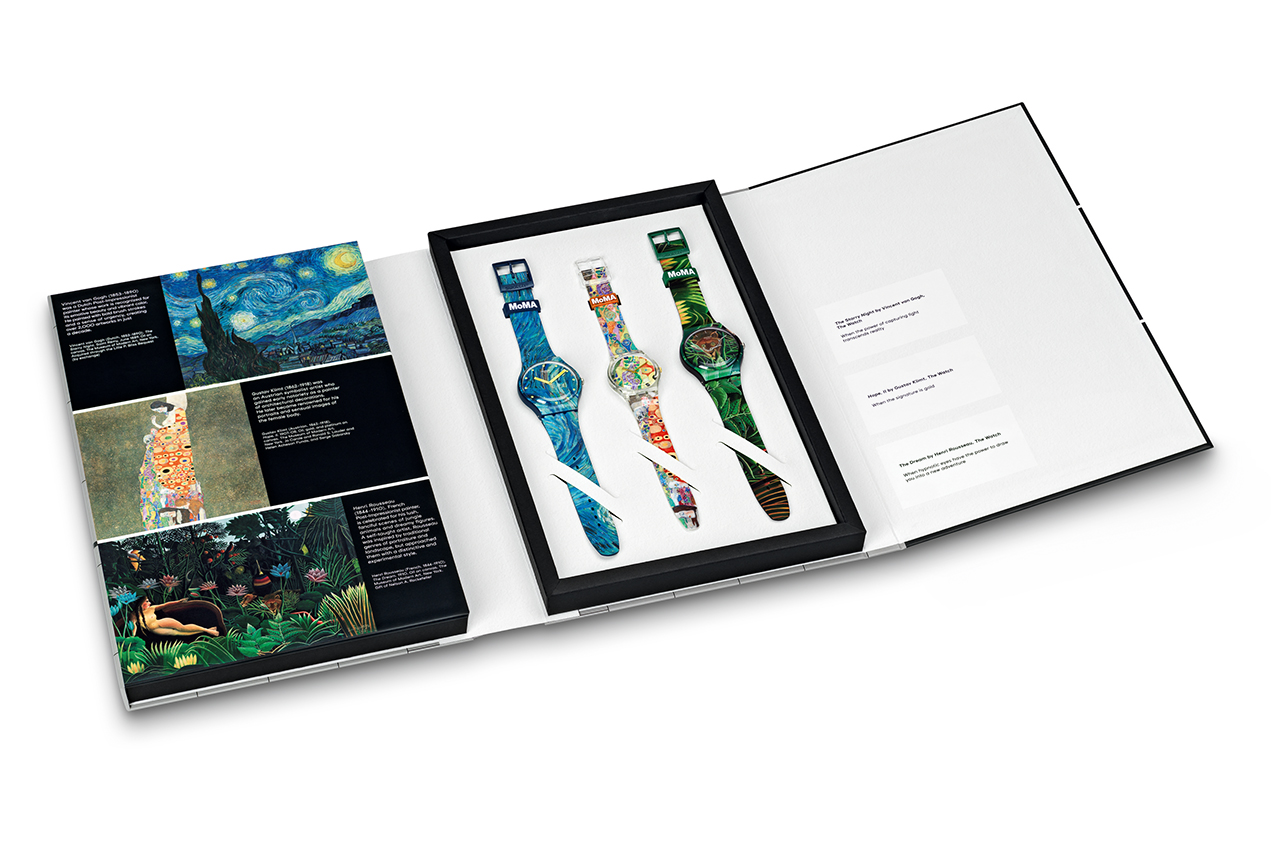 swatch drops epic six watch modern art collaboration 09
